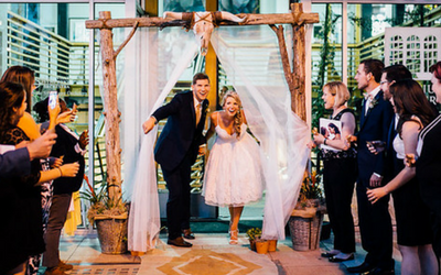 How to DIY a Wedding Arbor for Your Exit