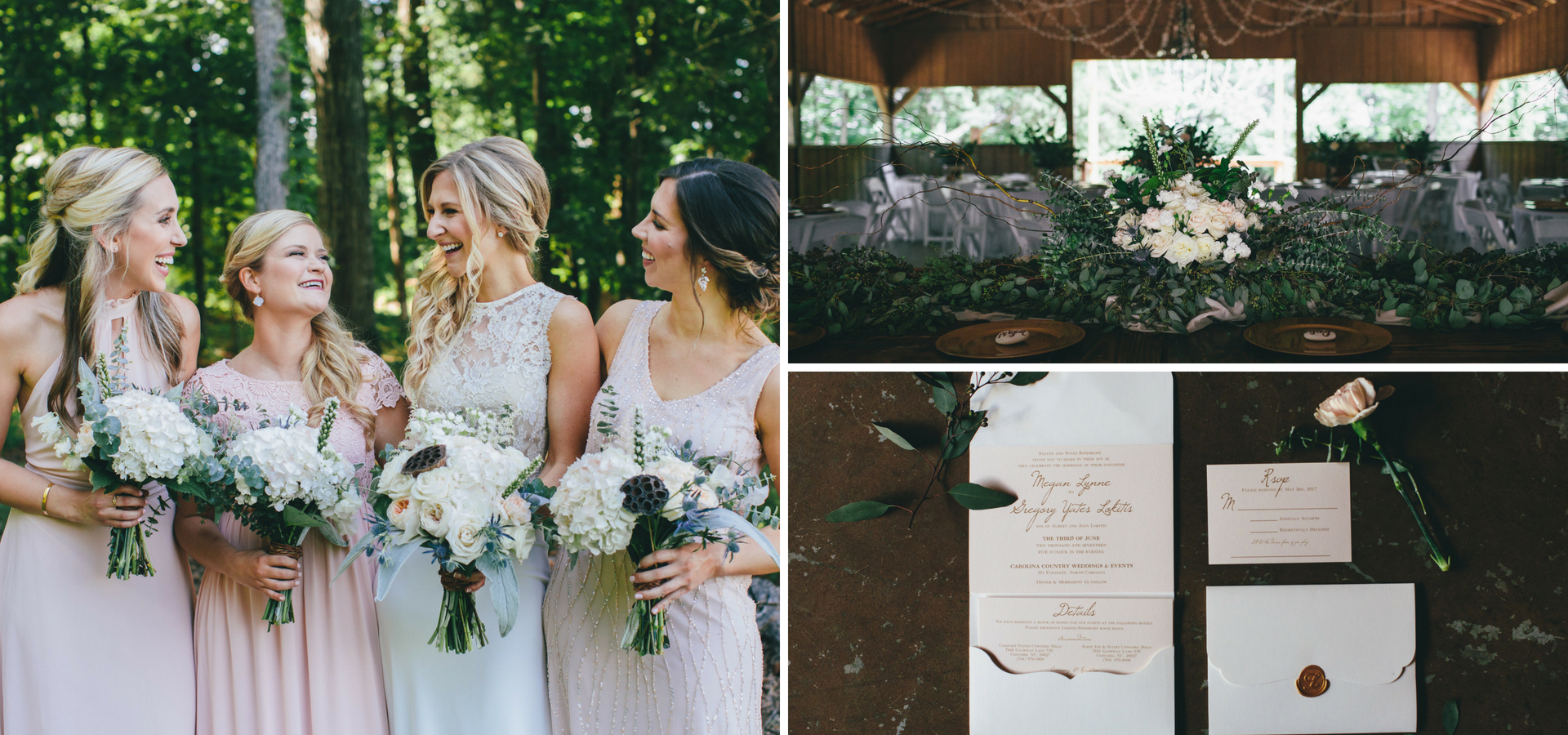 NC Woodland Wedding